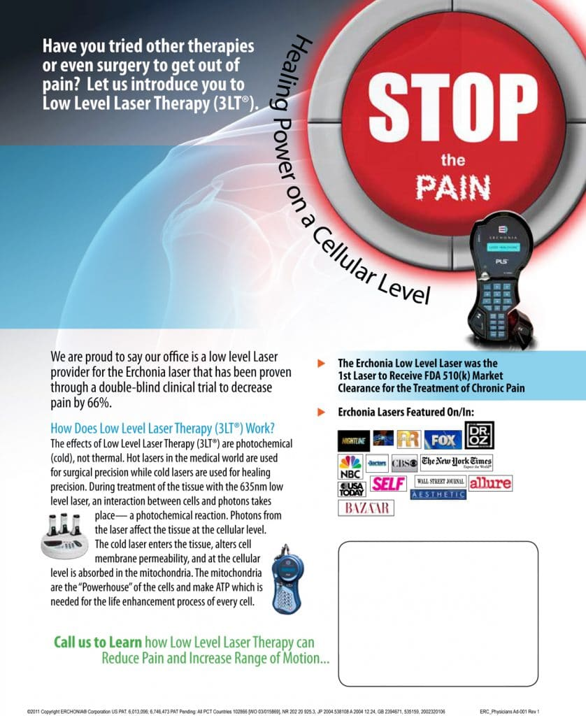 Chiropractic laser-therapy-brochure